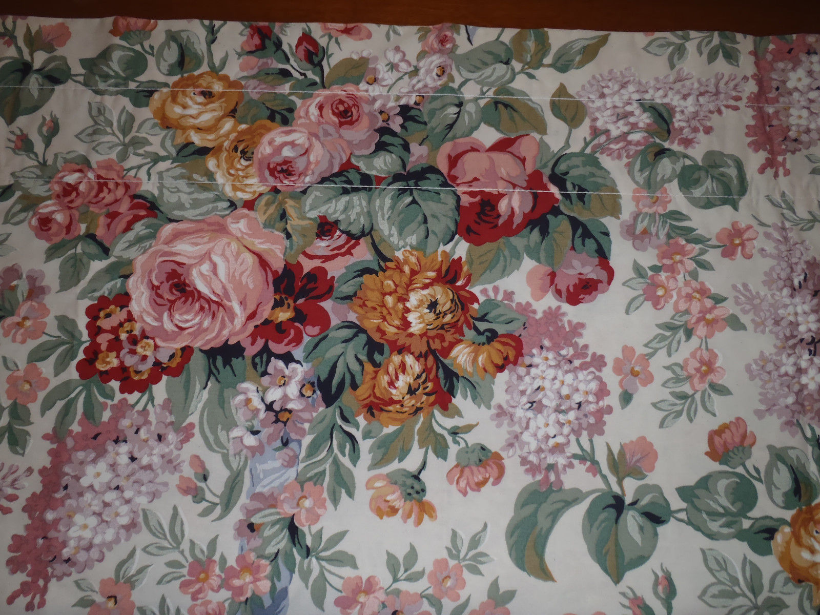 Primary image for Ralph Lauren Rod Pocket Valance ALLISON Country Floral 17x82