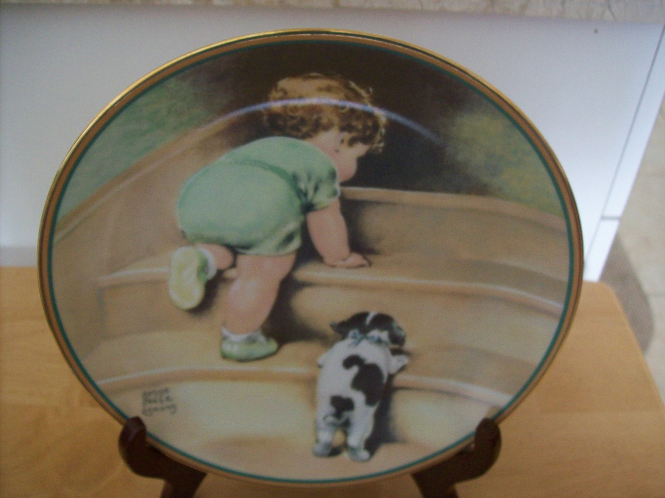 "Hamilton Collection 1986 ""On the Up and Up"" Collector's Plate"