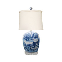 """Blue and White Blue Willow Porcelain Ginger Jar Table Lamp 27"""" - $296.99"""