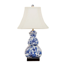 "Beautiful Blue and White Bird Motif Porcelain Table Lamp 27"" - $277.19"