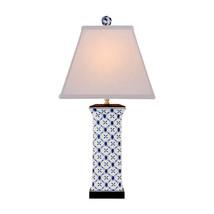 Blue and White Geometric Square Porcelain Vase ... - $227.69
