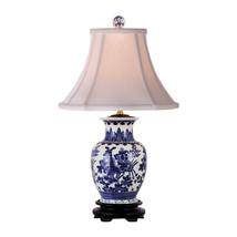 "Blue and White Floral Vase Porcelain Table Lamp 20.5"" - $158.39"
