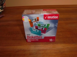 NEW Imation Neon Diskettes Mac 2HD 1.4MB 3.5 DS... - $7.99