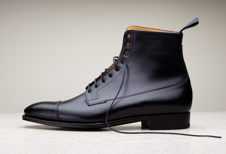 handmade black leather boots dress boots for