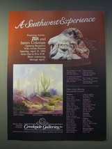 1989 Creekside Galleries Ad - Yellow Clouds by James Coleman - $14.99