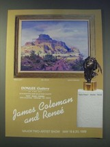 1989 Donlee Gallery Ad - Mesa Light by James Coleman - $14.99