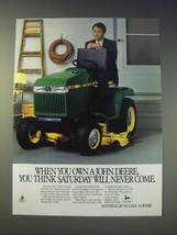 1989 John Deere 240 Riding Lawn Mower Ad - When you own a John Deere, you think  - $14.99