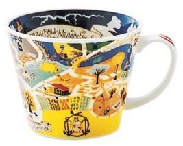 Moomin Valley Map Design Soup Mug Cup Yamaka Japan - $37.18