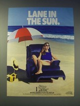 1989 Lane Action Recliner Ad - Lane in the sun - $14.99
