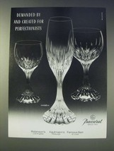 1989 Baccarat Massena Crystal Glasses Ad - Demanded by - $14.99