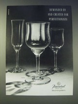 1989 Baccarat Capri Crystal Glasses Ad - Demanded by - $14.99