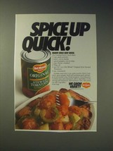 1989 Del Monte Stewed tomatoes Ad - Spice up quick! - $14.99