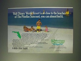 1989 St. Petersburg Clearwater Florida Ad - Walt Disney World Resort - $14.99