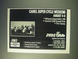 1989 Mid/Ohio Sports Car Course Camel Super Cycle Weekend Ad - $14.99