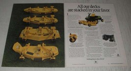 1989 John Deere Front Mower Ad - All our decks are stacked in your favor - $14.99