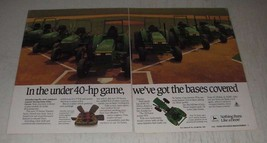 1989 John Deere 70 Series and 55 Series Tractors Ad - In the under 40-hp game - $14.99