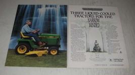 1989 john Deere 332 Tractor Ad - Three liquid-cooled tractors for the narrow - $14.99
