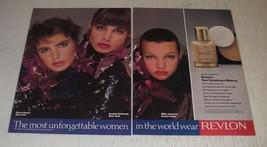 1989 Revlon New Complexion Makeup Ad - Alexa Singer, Milla Jovovich - $14.99