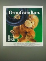 1989 Gund Peaches Orangutan Ad - OranGundtan - $14.99
