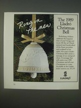1989 Lladro Christmas Bell Ad - Ring in the new - $14.99