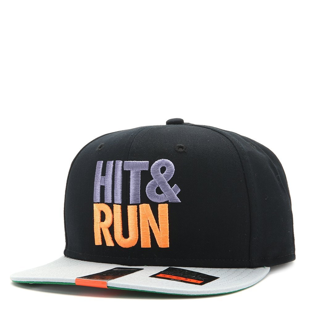 Nike Futura Hit & Run Snapback 616109 Grey/Black/Neon Purple/Neon Orange