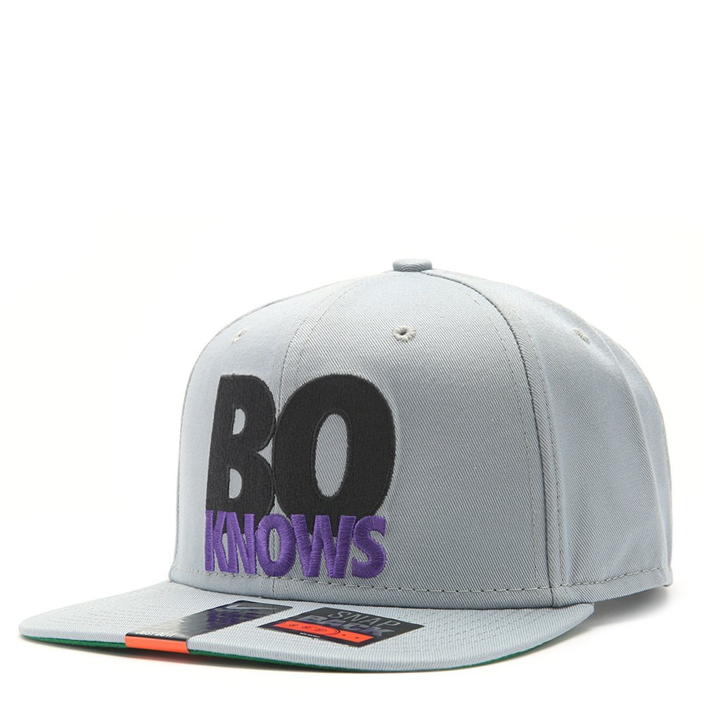 Nike Bo Knows Snap Back 616110 Grey/Green/Purple