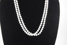 Vintage White Bead Necklace - $19.79