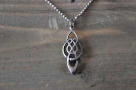 "Sterling Silver Celtic Pendant Necklace 16"" - $14.16"