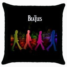 The Beatles Photo Black Cushion Cover Throw Pil... - $15.00