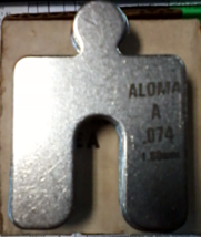 """Aloma Shims Stainless Steel Size A-2""""x2""""-.075 Box of 8 - $12.99"""