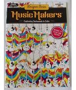 Music Makers Coloring Book Adult Kappa Books De... - $7.99