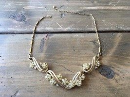 Vintage Coro Rhinestone Necklace Adjustable - $12.86