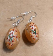 Miniature Baked Potato Charm Earrings Clay Charms Food Potatoes Wires Si... - $6.00