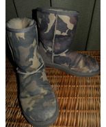UGG Boots Soft Leather 7W (will fit larger) Camo  - $39.00