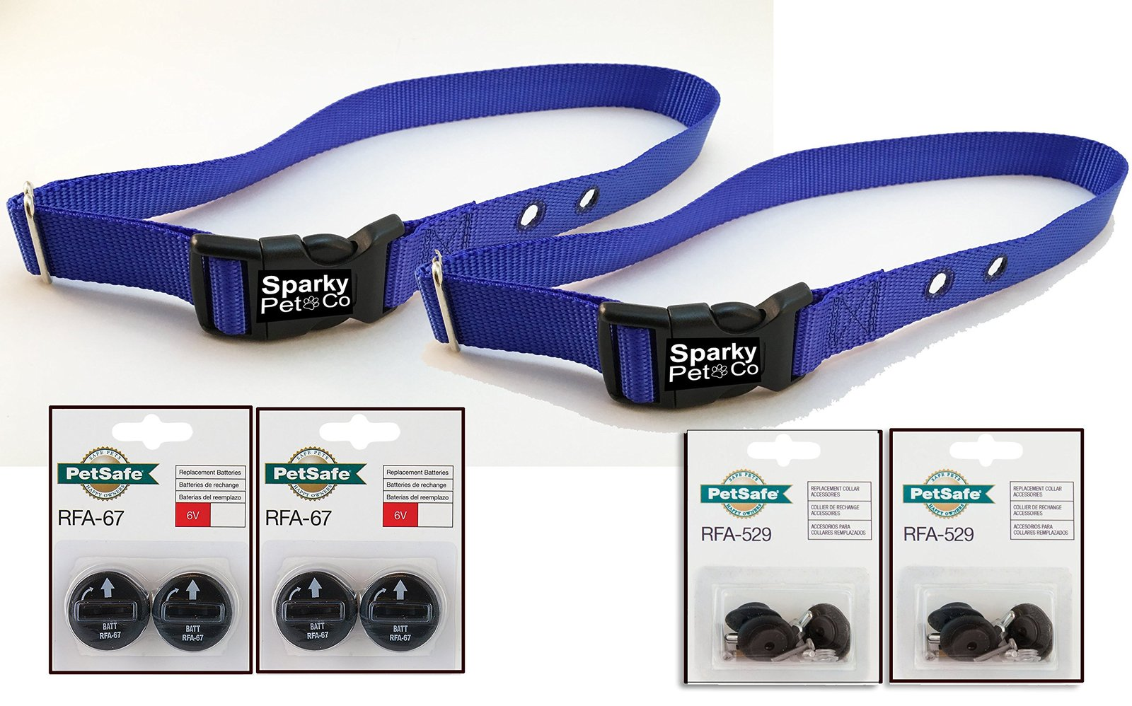 "Sparky PetCo PetSafe Compatible (2) RFA-41 3/4"" Navy Blue Color Dog Replaceme..."