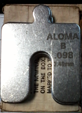 """Aloma Shims Stainless Steel Size B-3""""x3""""-.100 Box of 17 - $35.00"""