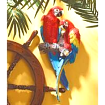 Tropical Scarlet Macaws Wall Sculpture - $61.50