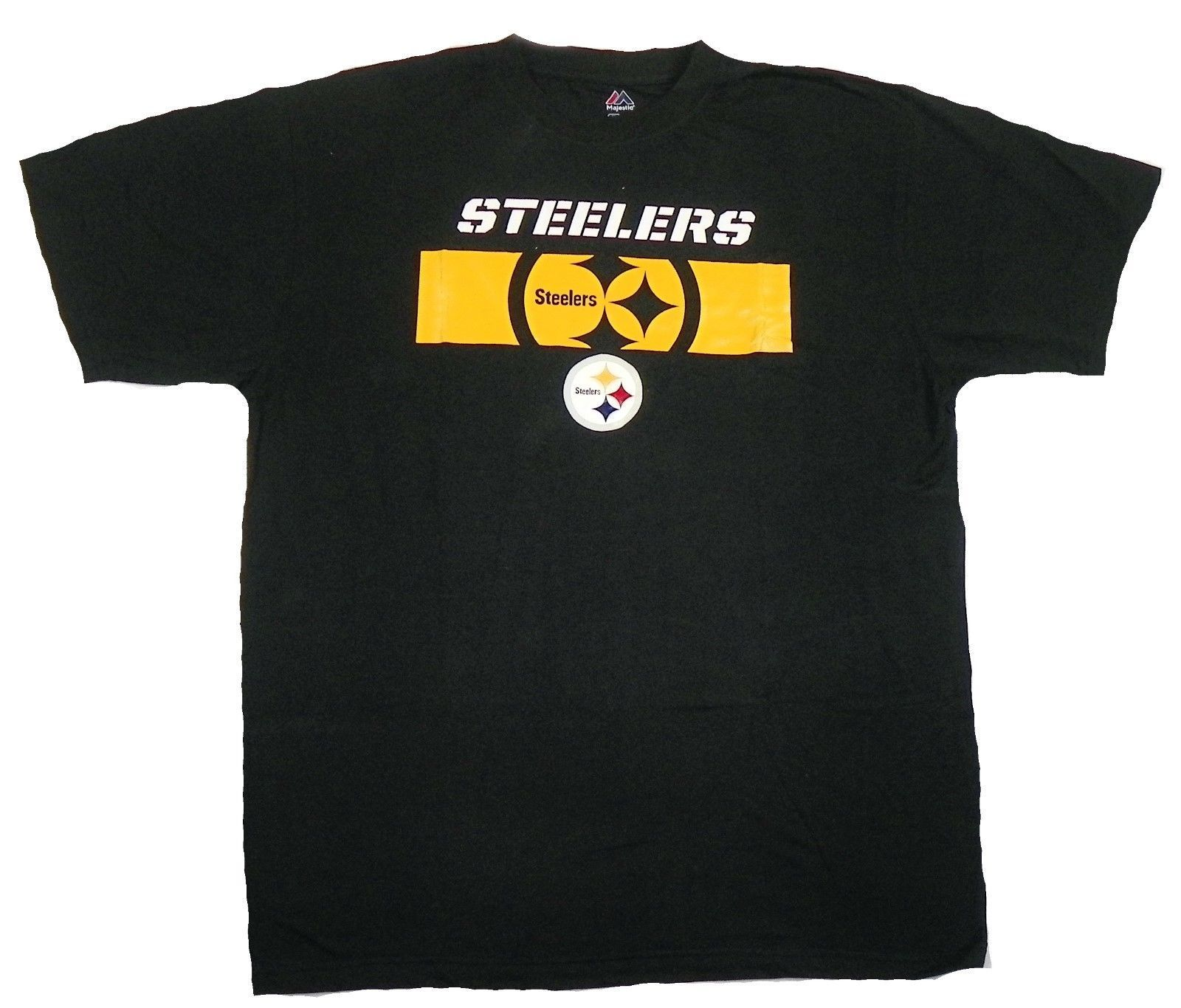 Pittsburgh Steelers Shirt Men's NFL Yardage Crew Tee Short Sleeve Big T-Shirt