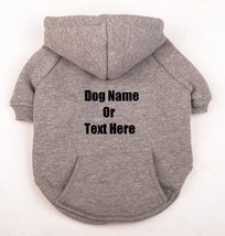 Custom Personalized Design Your Own Dog Hoodie Sweatshirt (Pet Clothing) - $18.95
