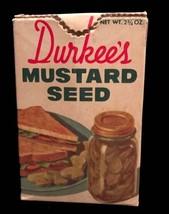 Vintage Durkee Mustard Seed Cardboard Box - 1960's - $8.00