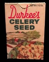 Vintage Durkee Celery Seed Cardboard Box - 1960's - $8.00