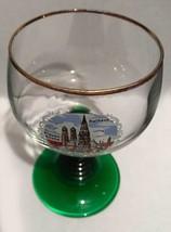 Vintage France Luminarc Green Coil Stem Wine Glass - 1970's - $10.00