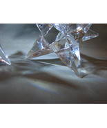 Crystal Rosenthal Crystal  Star Candlestick Holders - $80.00