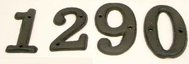 "Soild Cast Iron House Address Numbers 3 1/2"" ta... - $23.75"