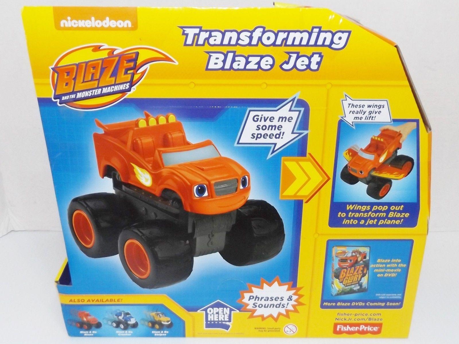 New! Fisher-Price : Blaze & The Monster Machines : Transforming Blaze Jet {4250}