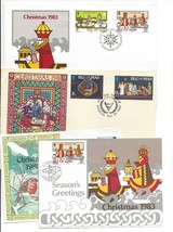 Isle of Man Lot of 4 1981 Christmas FDC 1982 Card 1983 Card and FDC - $8.99