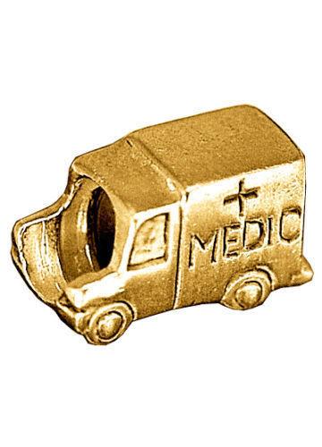 Real Authentic Genuine SOLID 10K GOLD Paramedic Charm bead nurse ambulance medic - $148.49