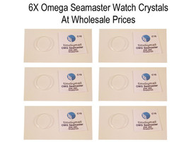 6X WATCH PLASTIC PLEXI-GLASS CRYSTAL FOR OMEGA SEAMASTER WHOLESALE 29.6m... - $48.70