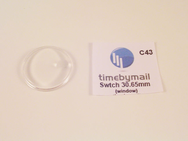 Primary image for FOR SWATCH WATCH REPLACEMENT GLASS CRYSTAL FITS 30.65mm DATE C43