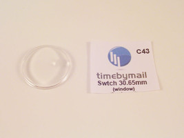 FOR SWATCH WATCH REPLACEMENT GLASS CRYSTAL FITS 30.65mm DATE C43 - $11.22